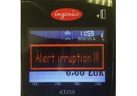 alert irruption incident ingenico