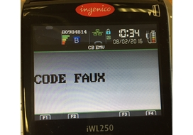 code faux incident ingenico