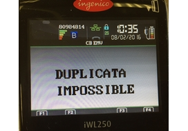 duplicata impossible incident ingenico